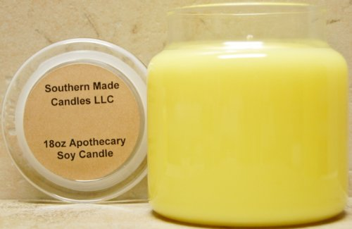 18 oz & 12 oz Apothecary Soy Candle - Creme - Candle Soy Brulee