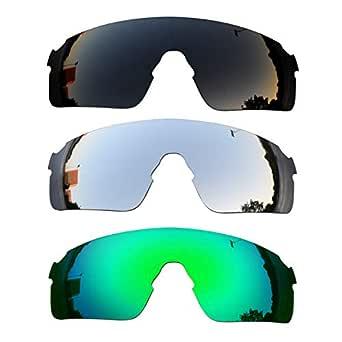 SOODASE Para Oakley EVZero Blades Gafas de sol Negro/Plata/Verde ...