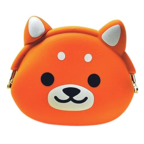 Bluelans® Lady Girls Cute Cartoon Animal Silicone Coin Purse Bag Change Pouch Kids Gift
