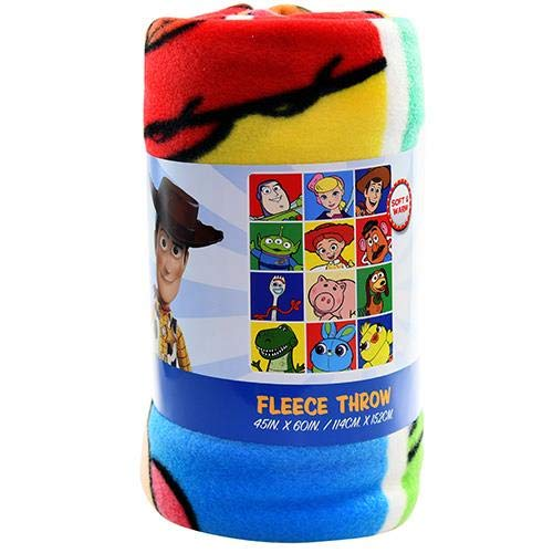 Northwest Disney Toy Story 4 Fleece Throw Blanket, 45 x 60, Multi Color