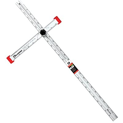 "Kapro 317-48-A Aluminum Adjustable Drywall Layout and Marking T-Square, 48"" Length from Kapro"
