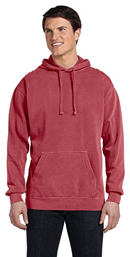 Comfort Colors 9.5 Oz. Garment-Dyed Pullover Hood, Small, Crimson