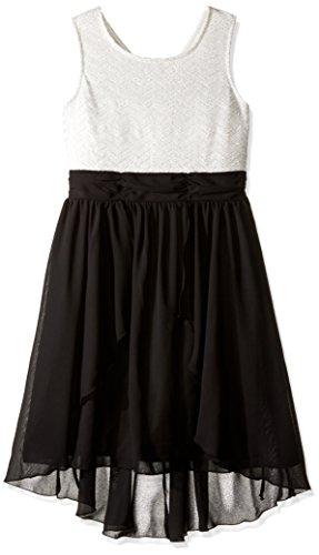 Speechless Big Girls' Glitter Chevron Lace. Chiffon Dress...
