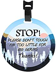 CORNERIA Stop-Please Don't Touch Baby Sign (Baby Preemie Sign,Boy Girl Preemie Sign)-2 Side Printing W/Hanger Easy Apply