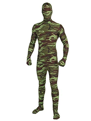 Forum Novelties I'm Invisible Costume Stretch Body Suit, Camo, Child Large