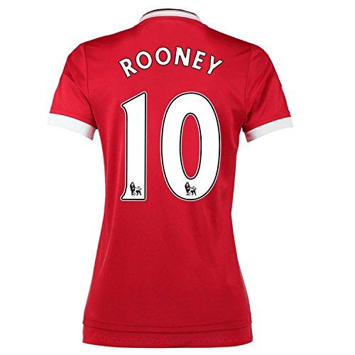 人質マイクロプロセッサマーガレットミッチェルAdidas Rooney #10 Manchester United Home Soccer Jersey 2015 -WOMEN(Authentic name and number of player)/サッカーユニフォーム マンチェスター ユナイテッド FC ホーム用 ルーニー 背番号10 2015 レディース向け