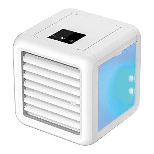 YO-TOKU Aficionados USB, Acondicionador de Aire purificador del humectador del Ventilador de Escritorio for el hogar de Oficina y al Aire Libre (Color: Blanco, Tamano: 16x15x15.5cm) Gadgets USB