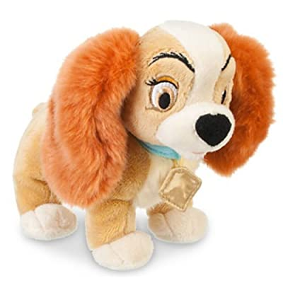 "Disney Store Lady and the Tramp - Lady Mini Bean Bag Plush Toy -- 7 1/2"" L: Toys & Games"