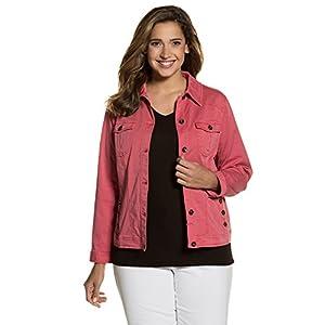 Ulla Popken Women's Plus Size Colored Trucker Jacket 710271