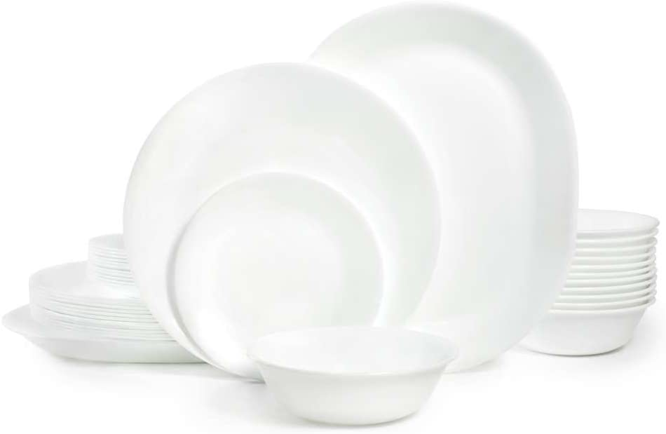 | Corelle Winter Frost White Dinnerware Set (38-Piece, Service for 12): Dinnerware Sets