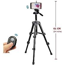 Medium Camera Tripod Mount Holder+Bluetooth Remote Shutter for LG G5 G4 G3 G2 G pro-Black