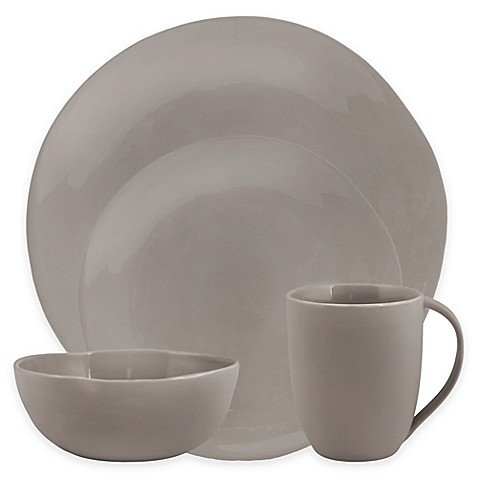 Artisanal Kitchen Supply Curve 16-Piece Dinnerware Set in Gr