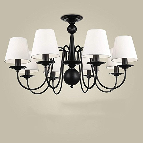 - CWJ Chandelier- 3/6/ 8 Chandelier Modern/Contemporary Traditional/Classic Vintage Country Iron Feature for Living Room Bedroom Dining Room -Interior Lighting Chandeliers,Without Remote Control-8