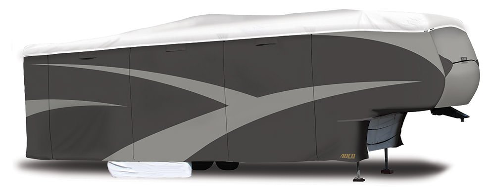 ADCO 34852 Designer Series Gray/White 23' 1'' - 25' 6'' DuPont Tyvek Fifth Wheel Trailer Cover by ADCO