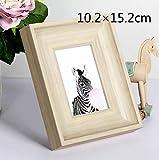 Huhgue Photo Frame Approx.10.2×15.2cm Retro Photo Frame Simple Poster Frame for Home Decoration (White)