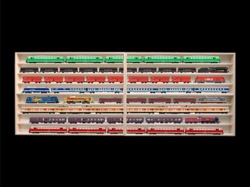 Alsino Vitrine HO 8 compartiments pour marklin 1,80 m /étag/ère avec rainures pour rails H0 2E42ALR