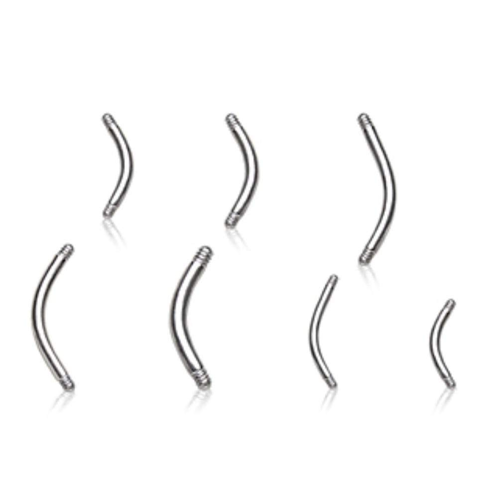Covet Jewelry 10pcs 316L Surgical Steel Curved Bar Package