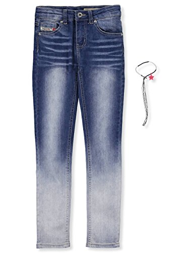 Diesel Big Girls' Slim Jeans with Bracelet - Blue, - Diesel Jeans Kids