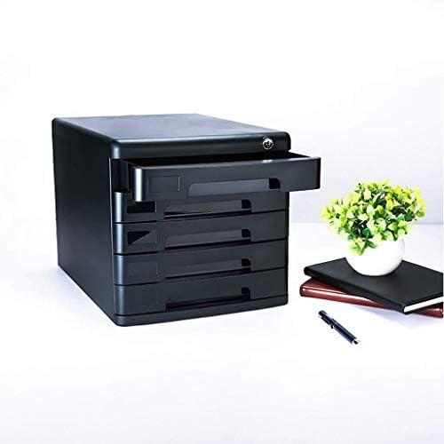 事務用品 快適なハンドプルデザインオフィスデスクファイルキャビネットロックのドアストレージデータボックス引き出しタイプ大型宇宙メタル - 27.1x36.1x26cm事務用品(カラー:A1) (Color : B1)