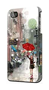 S0108 Girl in The Rain Case Cover for IPHONE 5C