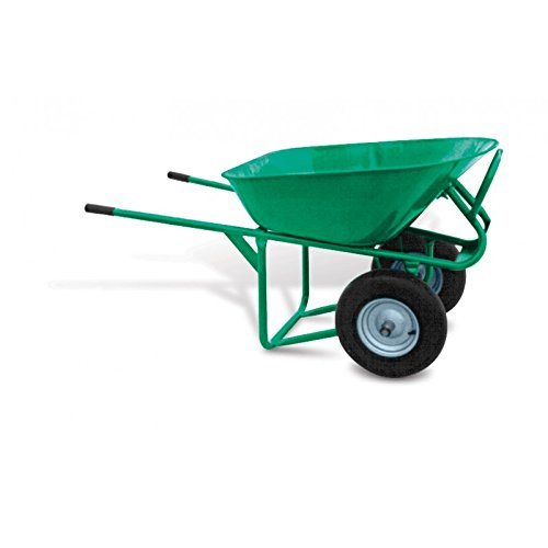 Garlock Equipment - 2 Wheel Heavy-Duty Wheelbarrow With Flat Free Tires, 5.75 Cu.Ft Capacity