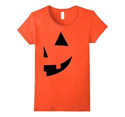 [Womens Jack O Lantern T-shirt Jackolantern Couple Halloween Costume Medium Orange] (Cool Couple Costumes)