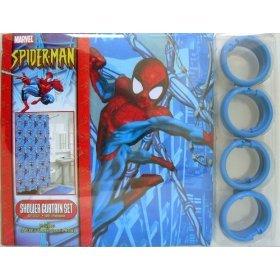 Amazon SPIDERMAN Bathroom Bath Vinyl SHOWER Curtain Hooks NU