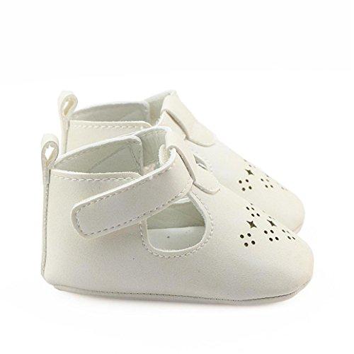 BZLine® Infant Baby Girls Hollow Crib Shoes Anti-Rutsch Schuhe Soft Sole schuhe Weiß