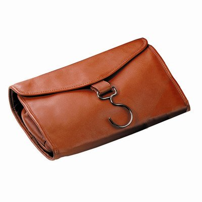 Royce Leather Hanging Toiletry Travel Bag in Genuine Leather Color: Tan by Royce Leather