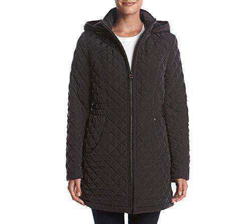 Zip Front Quilted Coat - 5