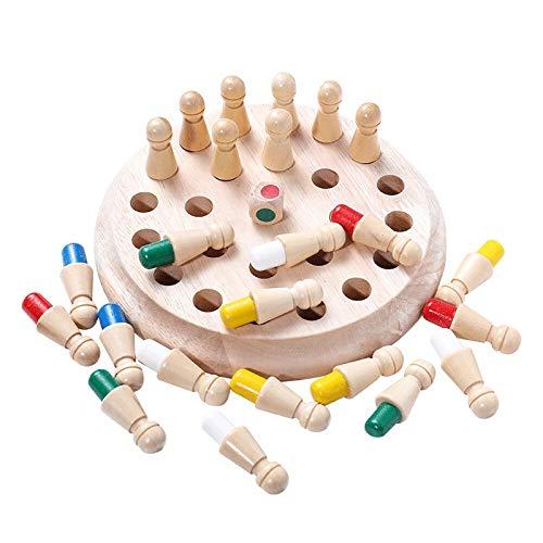 yotijar Juego De Ajedrez De Madera Memory Stick para Niños, Juego De Ajedrez Kids Wooden Memory Match Stick,