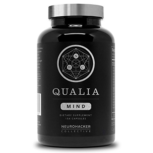 Qualia Mind from The Neurohacker Collective® | Premium Nootropic Supplement for Mental Performance & Brain Health. Designed to Optimize Brain Function, Increase Focus & Mental Clarity (154 Count)