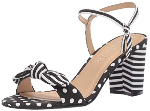 CL by Chinese Laundry Women's Jaylie Heeled Sandal Black/White Linen 7.5 M US - Sandals Womens Dots