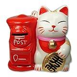 Maneki Neko Fortune Cat Lucky Cat Piggy Bank Post
