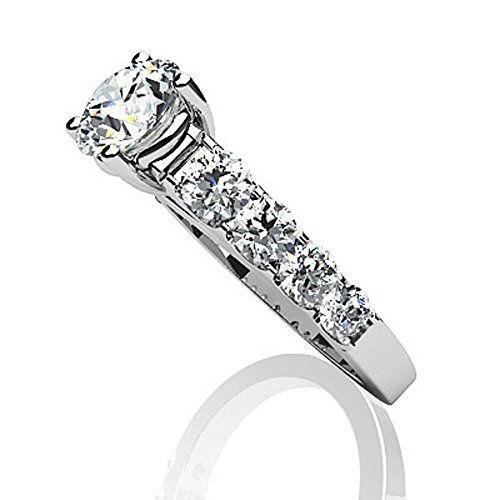 14 K Or blanc Sweet Dream Bague de fiançailles