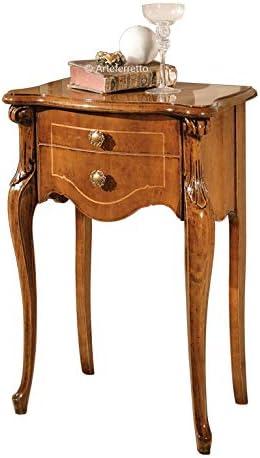 Artigiani Veneti Riuniti Telefonera clásica incrustada, Mueble de ...