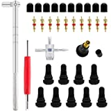ZHSMS Tyre Valve Stem Puller Tools Set with 10 Pcs