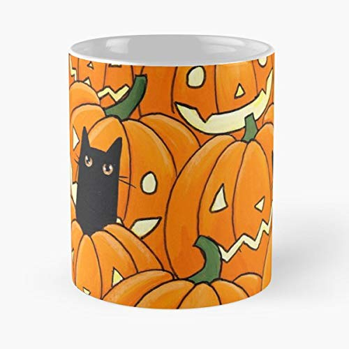 Original Cat Folk Art Halloween - Coffee Mug 11 Oz Funny Gift]()
