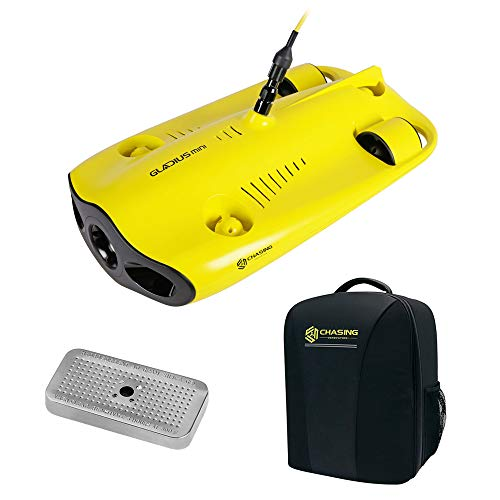 CHASING-INNOVATION Gladius Mini Underwater ROV Kit with CHASING Backpack Pro & Silica Gel Metal Case Bundle