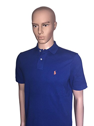 Polo RL Men's Classic Fit Mesh Pony Shirt-Rugby Royal-Small ()