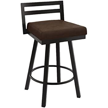 Amazon Com Amisco Industries Derek Swivel Stool 33 75