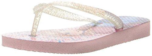 Havaianas Girls' Slim Frozen Sandal Flip Flop, Pearl Pink, 33/34 BR/3/4 M US Big - Havaianas Sale Kids