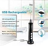 Milk Frother Handheld, USB Rechargeable 3 Speeds