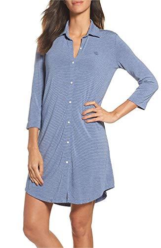 - Lauren Ralph Lauren Women's Jersey Sleepshirt (X-Large, Blue Thin Stripe)