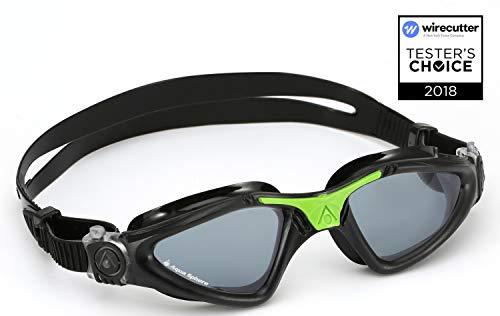 Aqua Sphere Kayenne Swim Goggles with Smoke Lens, Smoke Lens / Black & Green