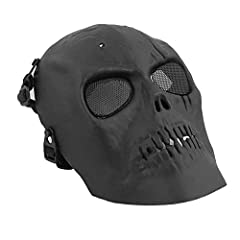 Features:An awesome mask which can give you different feelings.The material is environment-friendly and poison free.Metal mesh eye shield for better protection.Allow player to breathe freely, comfortable to wear.Great for airsoft, hunt...