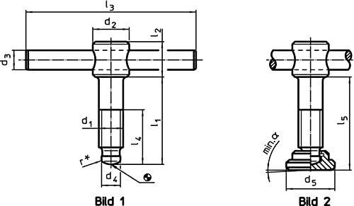 Erwin Halder Normteile Knebelschrauben DIN 6304 mit festem Knebel//ohne Druckst/ück 24490.0008 d1=M8 // l1=50 mm Form E