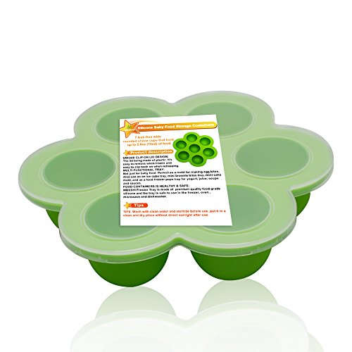 Lowest Prices! Eco Friendly Silicone Baby Food Freezer Storage Tray Clip on Silicone Lid Toxin and B...