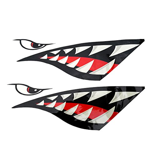 Bouche /& Dents de Requin Autocollants Décalque de Vinyle 2pcs avec Porte