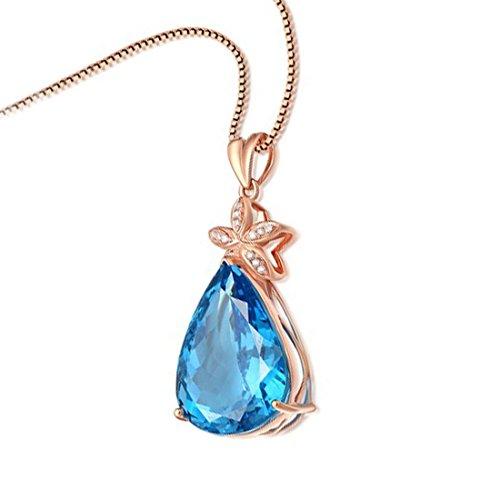65400360a533 DALARAN Blue Drop Cubic Zirconia Clásico Solitario Colgante para Mujeres  Wedding Party Jewelry En venta
